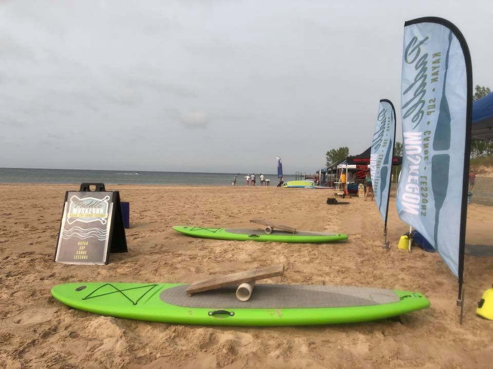 Get lessons, take a SUP (stand up paddle board) or kayak for a cruise or hang out with the cool kids from Paddle Muskegon.