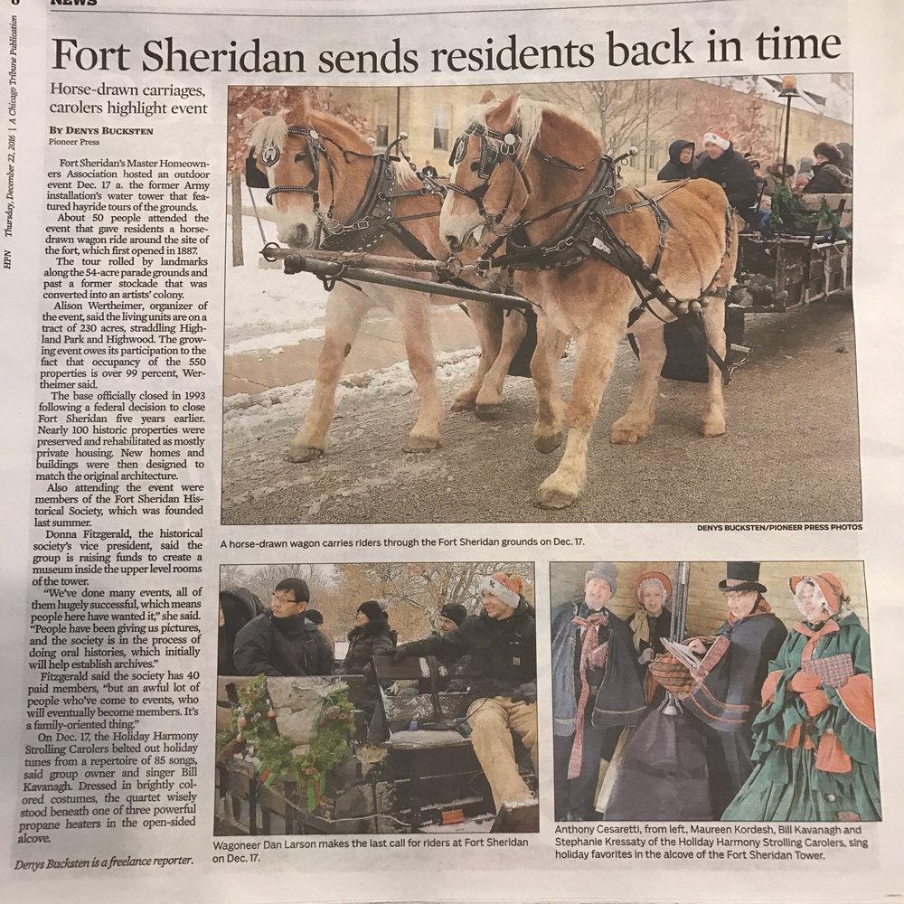Fort Sheridan Winter Fest 2016: Fort sheridan sends residents back in time