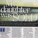 My daughter was...