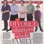 Divorce shatters...