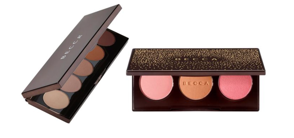 PRODUCTS: BECCA ROUGE OMBRE NUDES EYE-SHADOW PALETTE + BECCA BLUSHED WITH LIGHT PALETTE