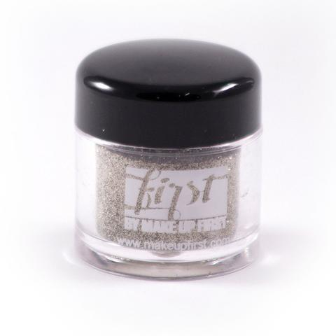 create a glitter liner with FIRST® by make up first (maqpro) loose glitter and inglot duraline.  -