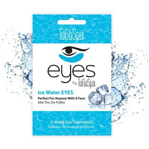 ToGoSpaIce Water Eyes - Supercharge your eyes with these nutrient-packed collagen gel pads. These cooling pads are great after stressful days, sleepless nights, and everything in between. Perfect for anyone with a face!