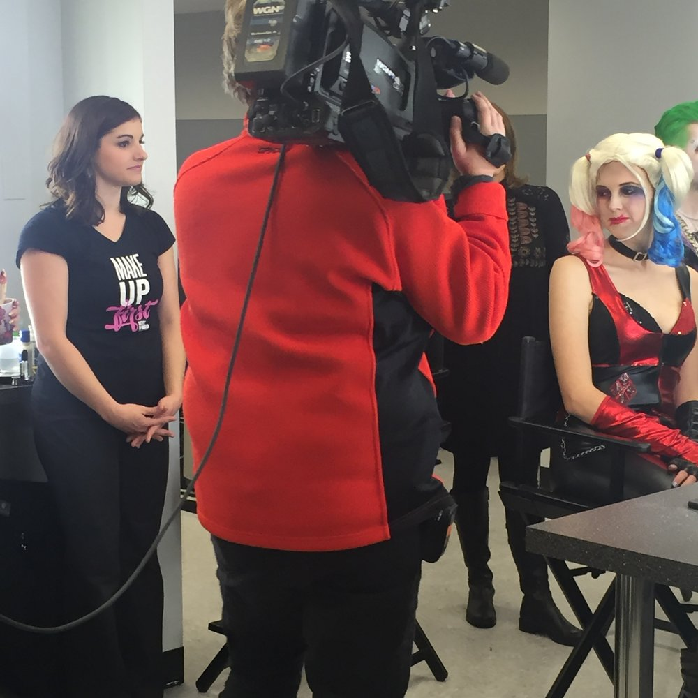 Make Up First WGN Around Town Halloween 6