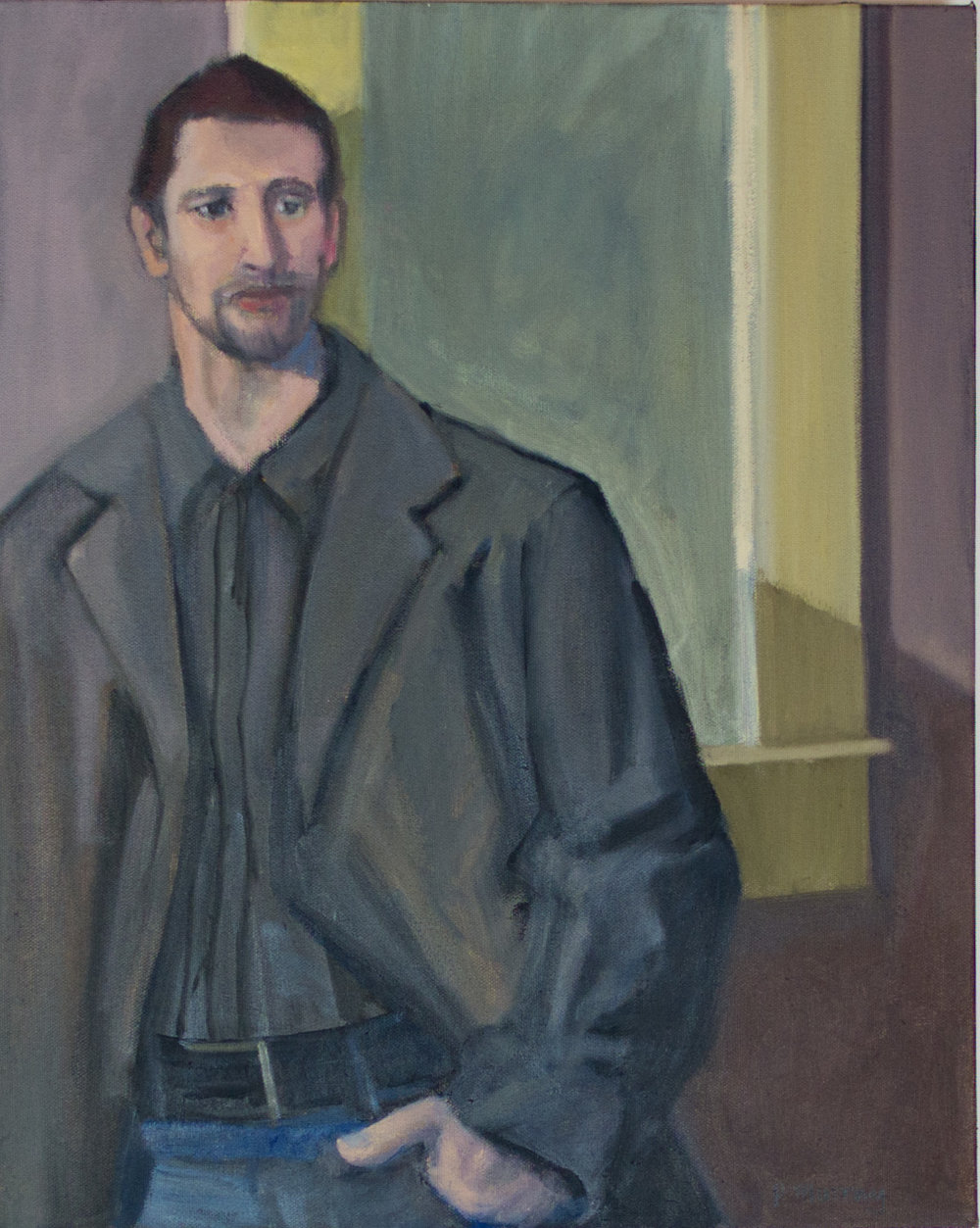 Young Man in Father's Coat