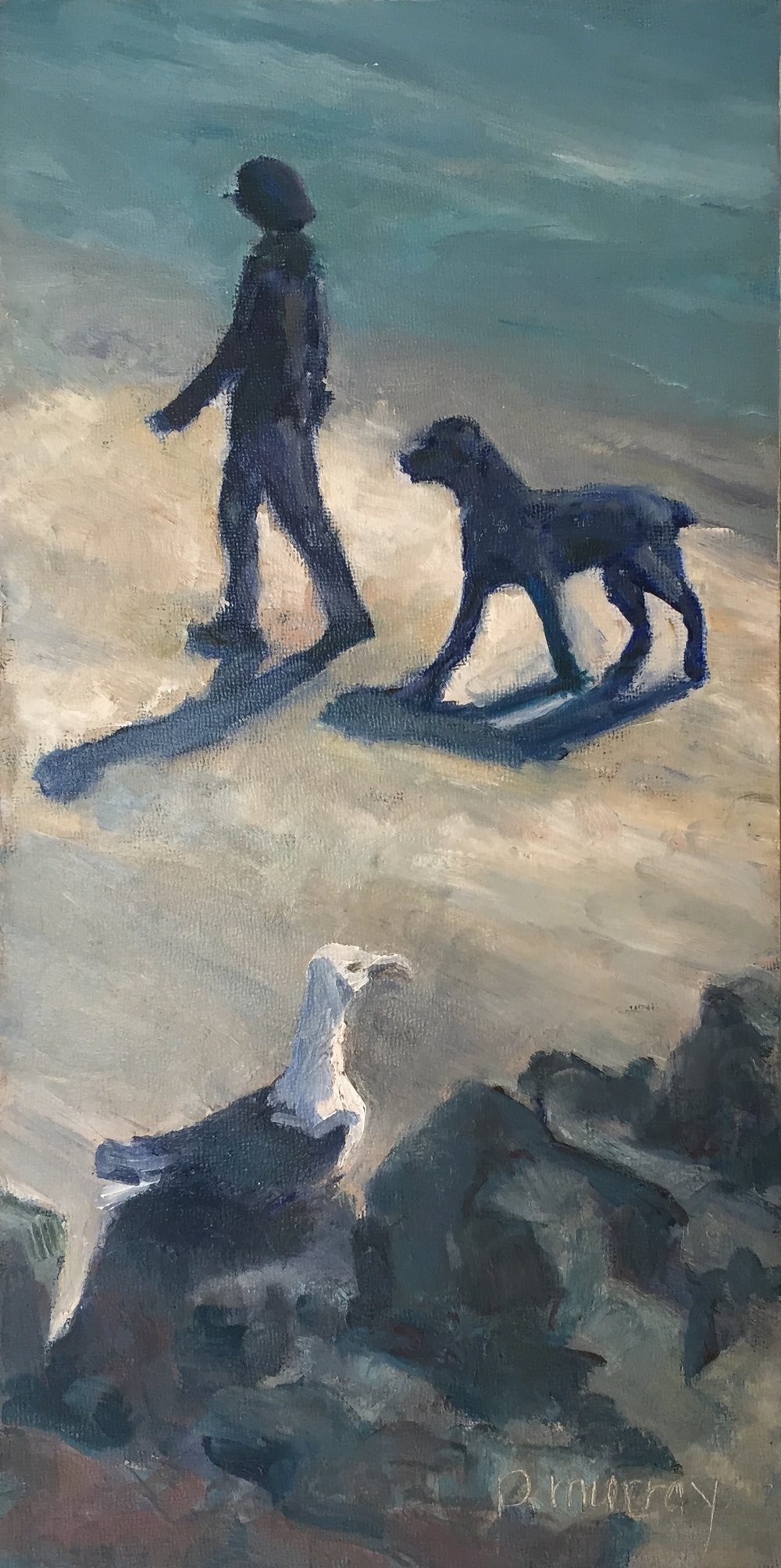 Beach Strollers with Onlooker
