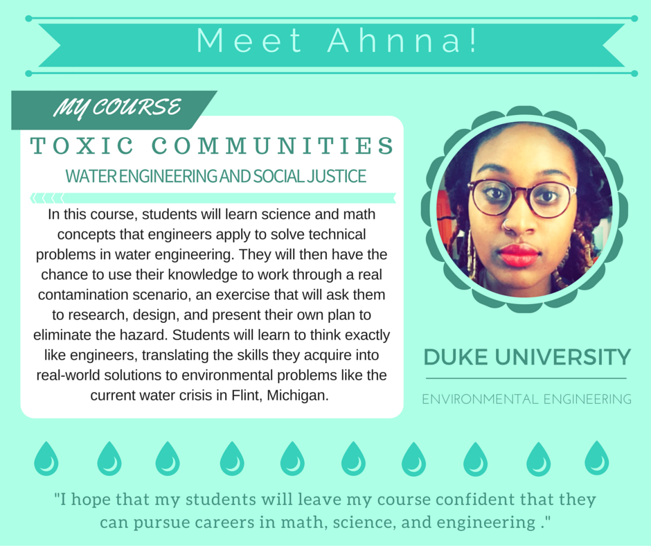 """Water Engineering""   Ahnna Beruk,  Duke University Environment"