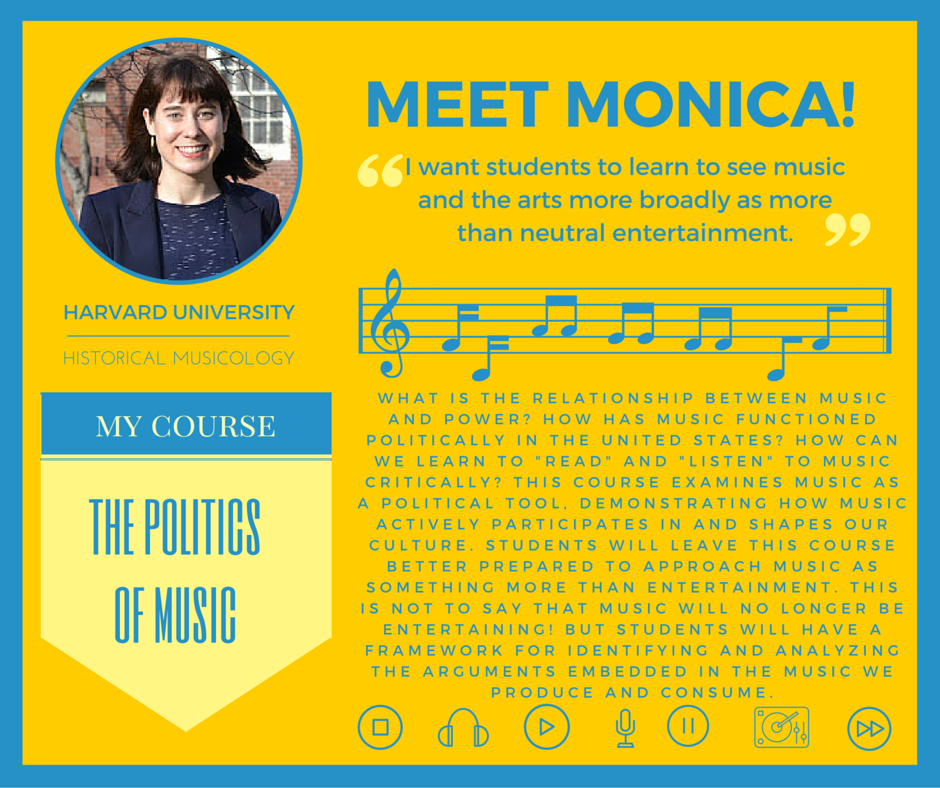 """The Politics of Music""   Monica Hershberger,  Harvard University Music"