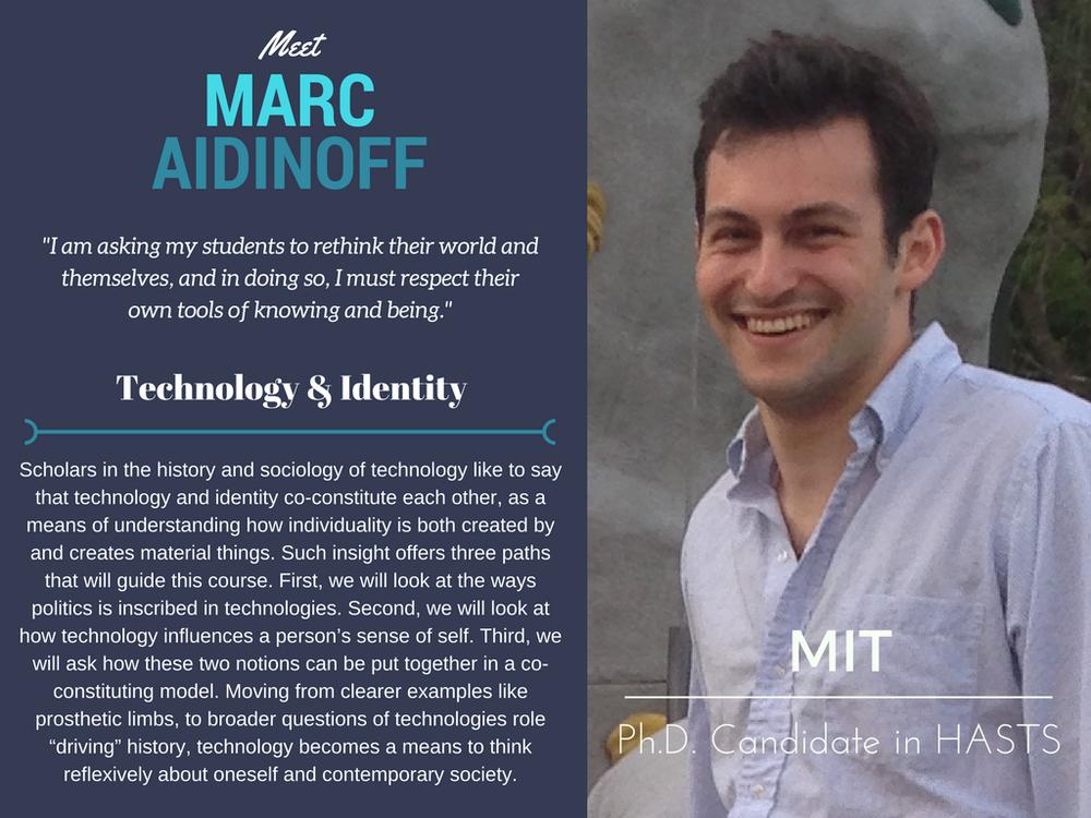 """Technology & Identity""   Marc Aidinoff,  MIT"