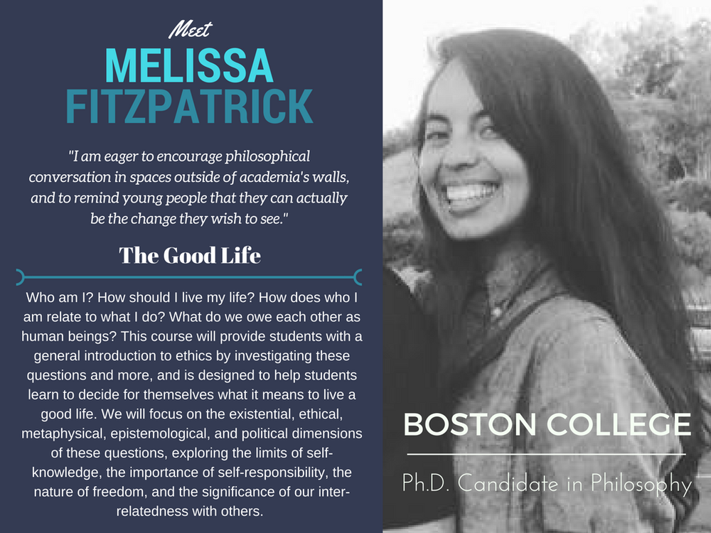 """The Good Life""   Melissa Fitzpatrick,  Boston College"