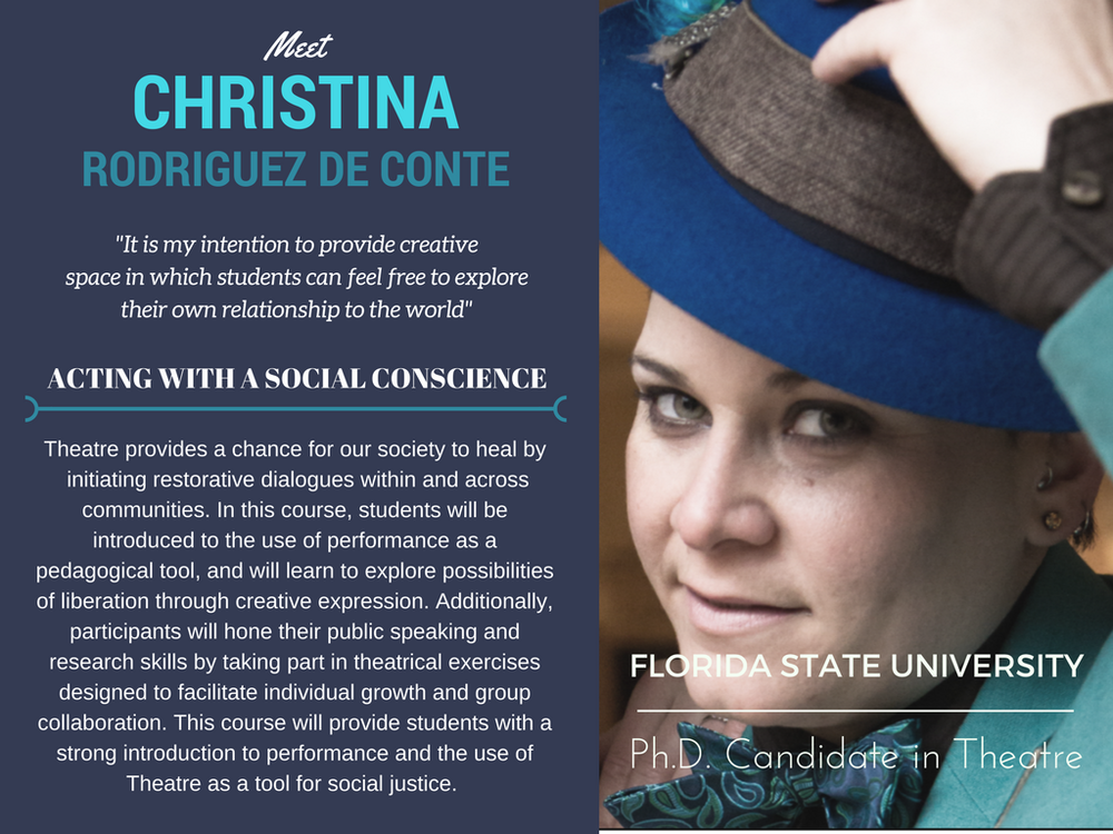 """Acting With a Social Conscience""   Christina Rodriguez de Conte,  Florida State University"