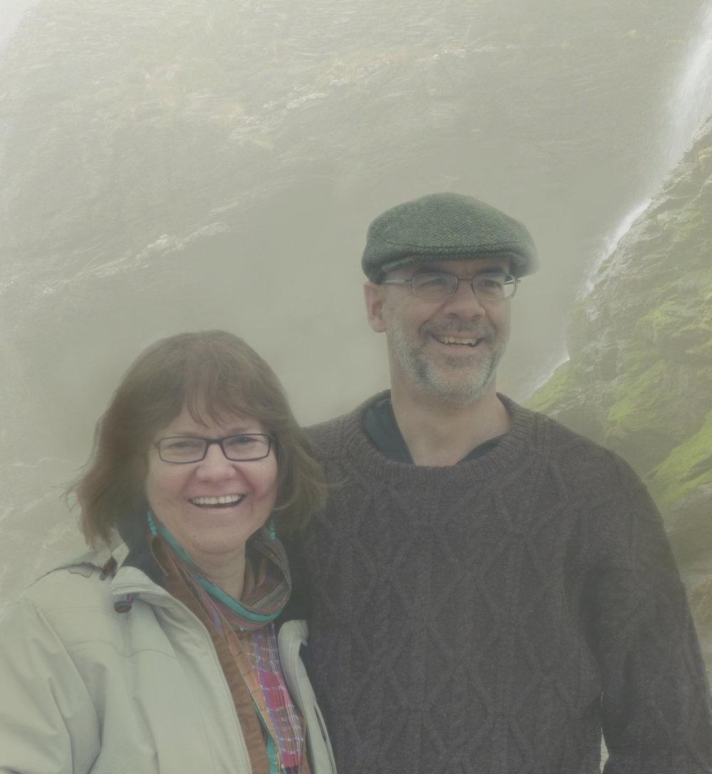 Ken & Marsha McIntosh in Cornwall, England.