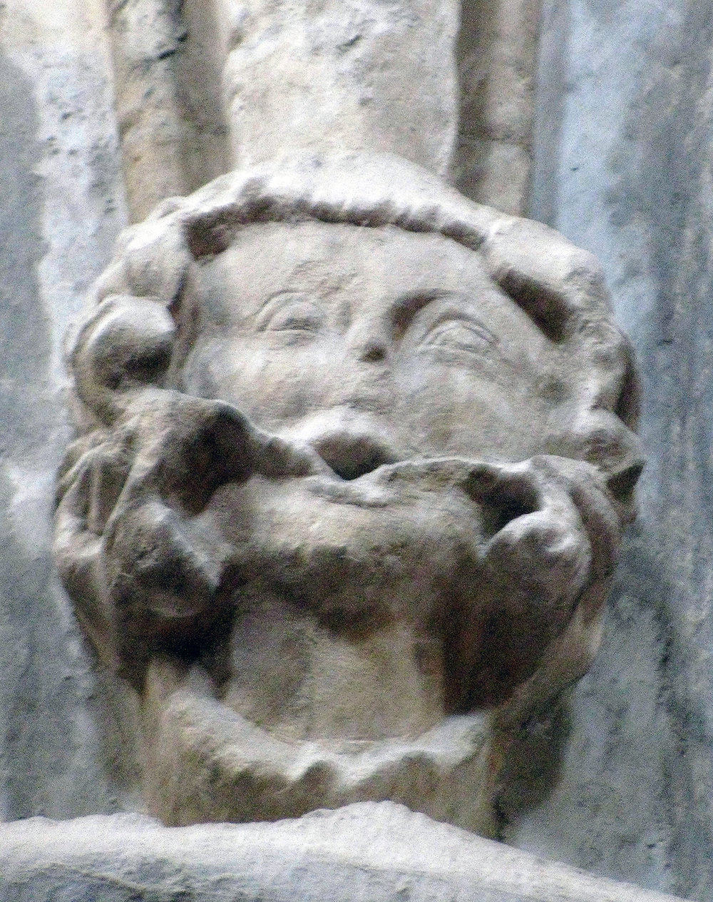 IMAGE EIGHT–Green Man in an Irish Cathedral explained as a pagan deity