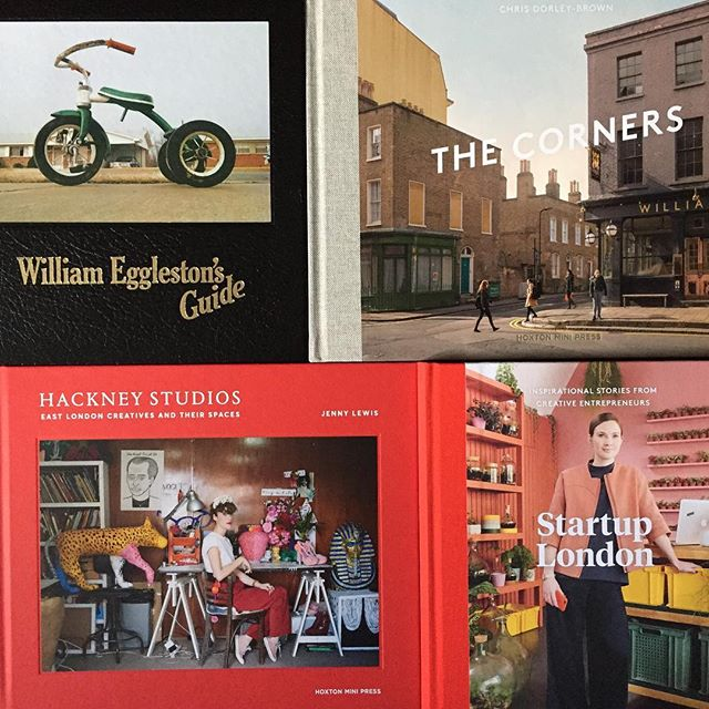 I'm going to need a bigger bookshelf! @hoxtonminipress #williameggleston #eastlondon #hackney #photobook #startup #photography #bookstagram @chrisdorleybrown @_jennylewis_