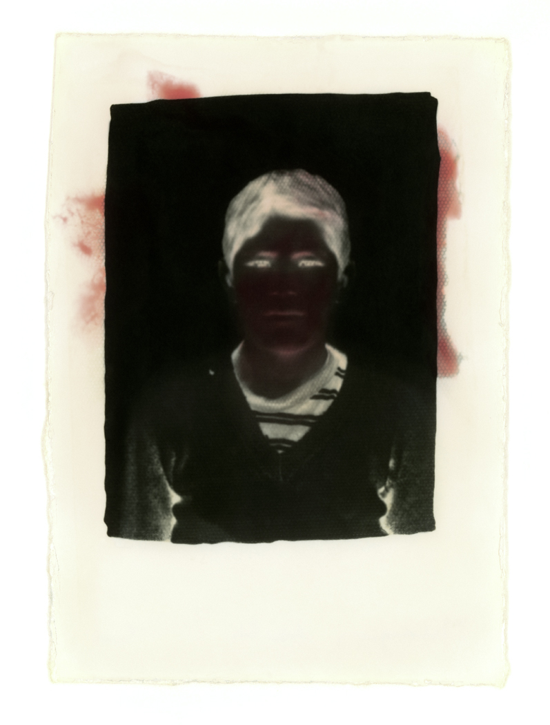 Under the Black Sun.  Hand-dyed toned gelatin silver print, Mercurochrome. Variable dimensions.