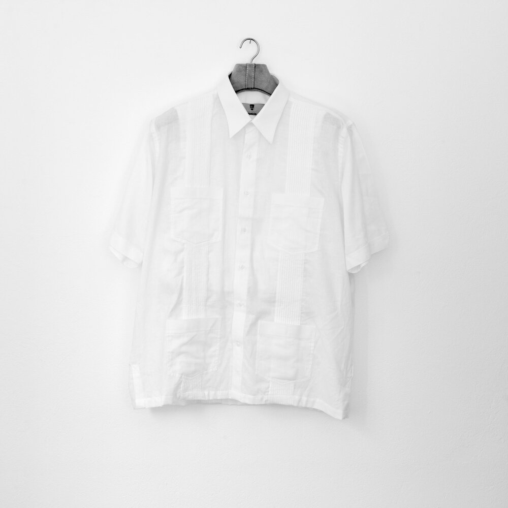 Bulletproof (Guayabera)  Archival pigment print on cotton paper, mounted on aluminum. 40 x 40 in.