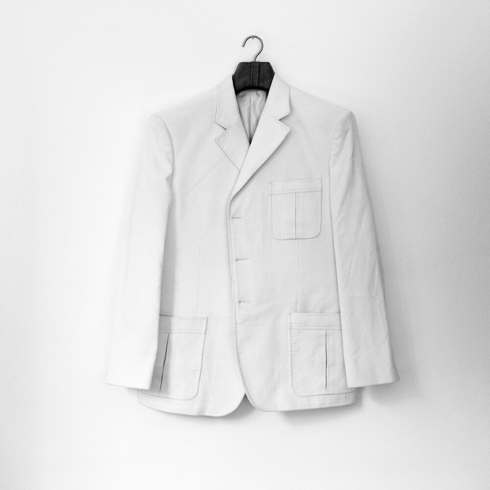 Bulletproof  (Dinner Jacket) Archival pigment print on cotton paper, mounted on aluminum. 40 x 40 in.