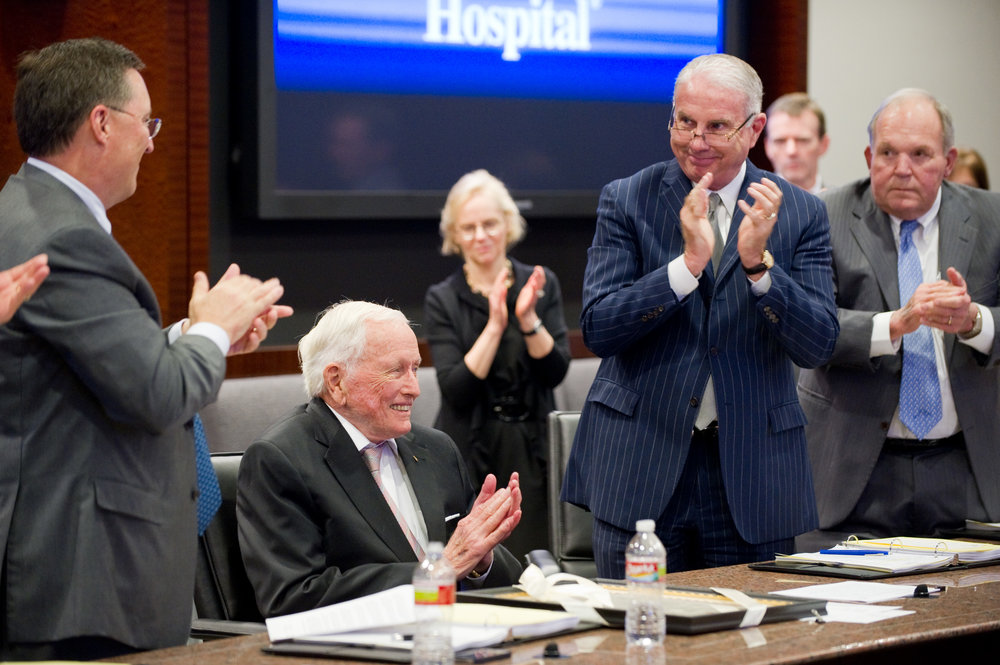 Texas Children's President and CEO Mark A. Wallace and others honor Dr. Denton A. Cooley