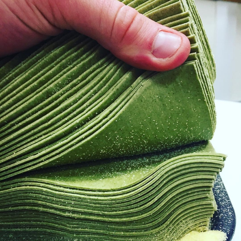 Fresh Spinach Pasta sheets