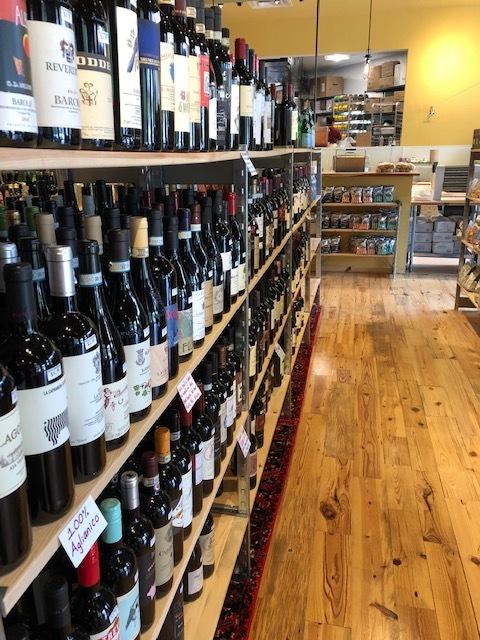 Mint St. wine section