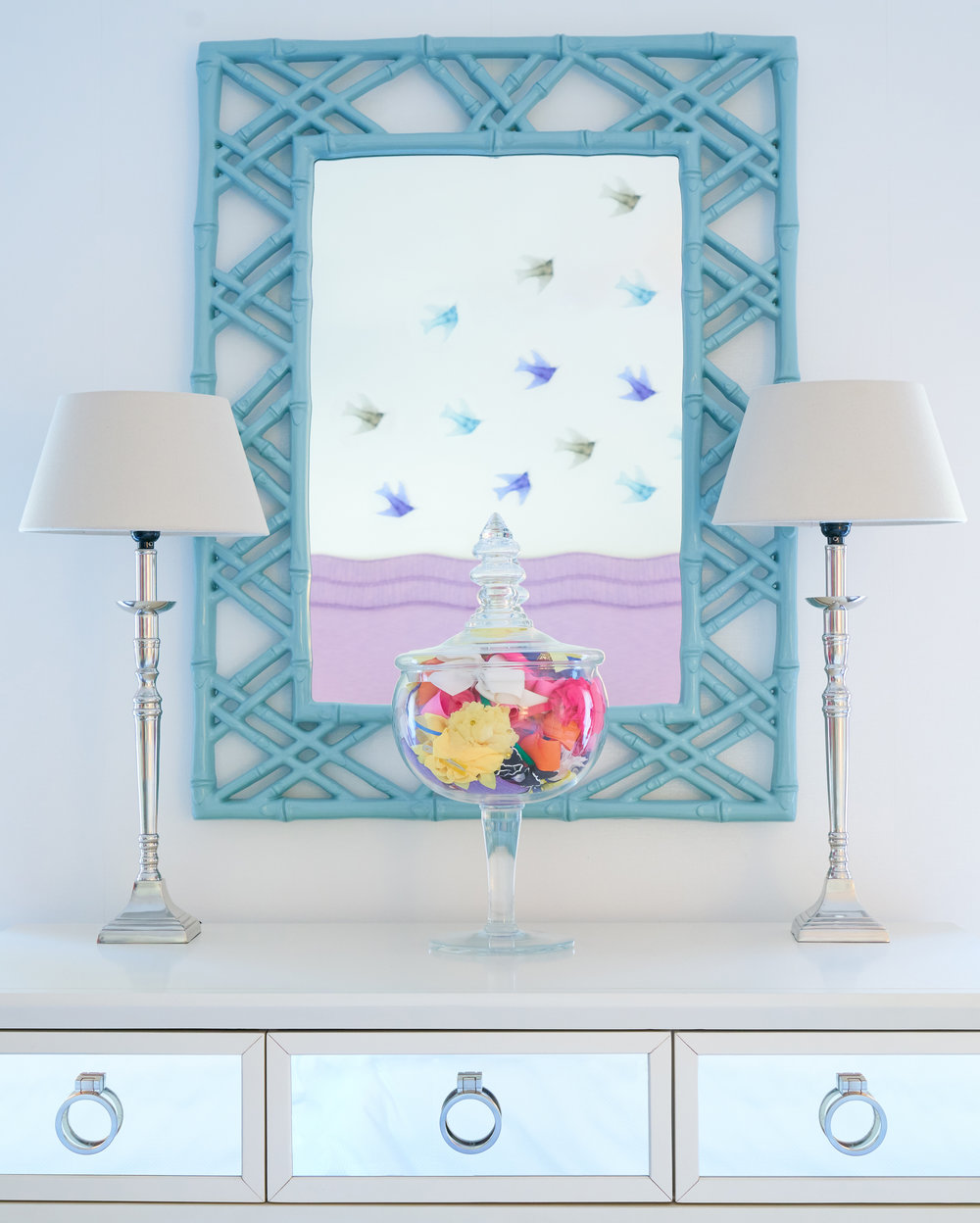 Playful vignette for girls bedroom