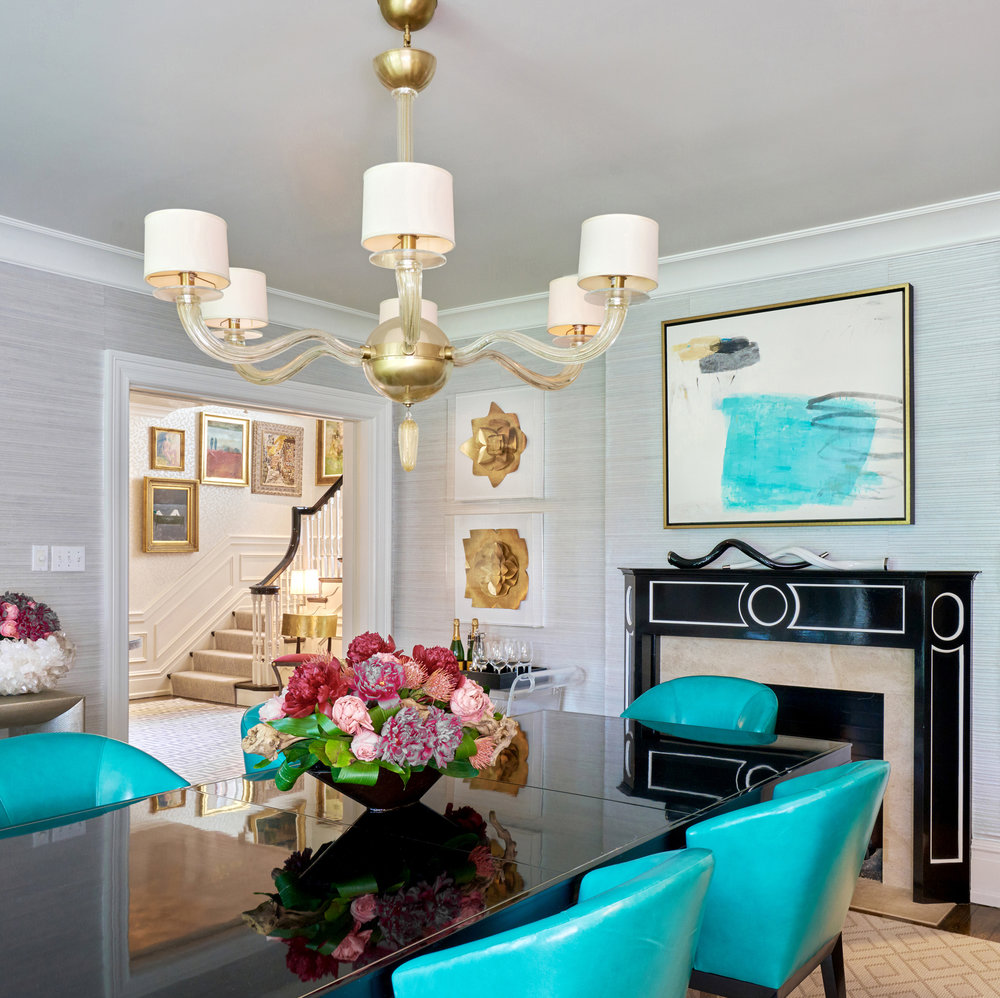 Turquoise accents bring excitement to a neutral palette.