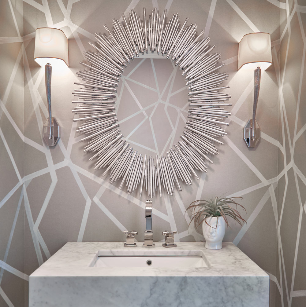 Abstract powder room