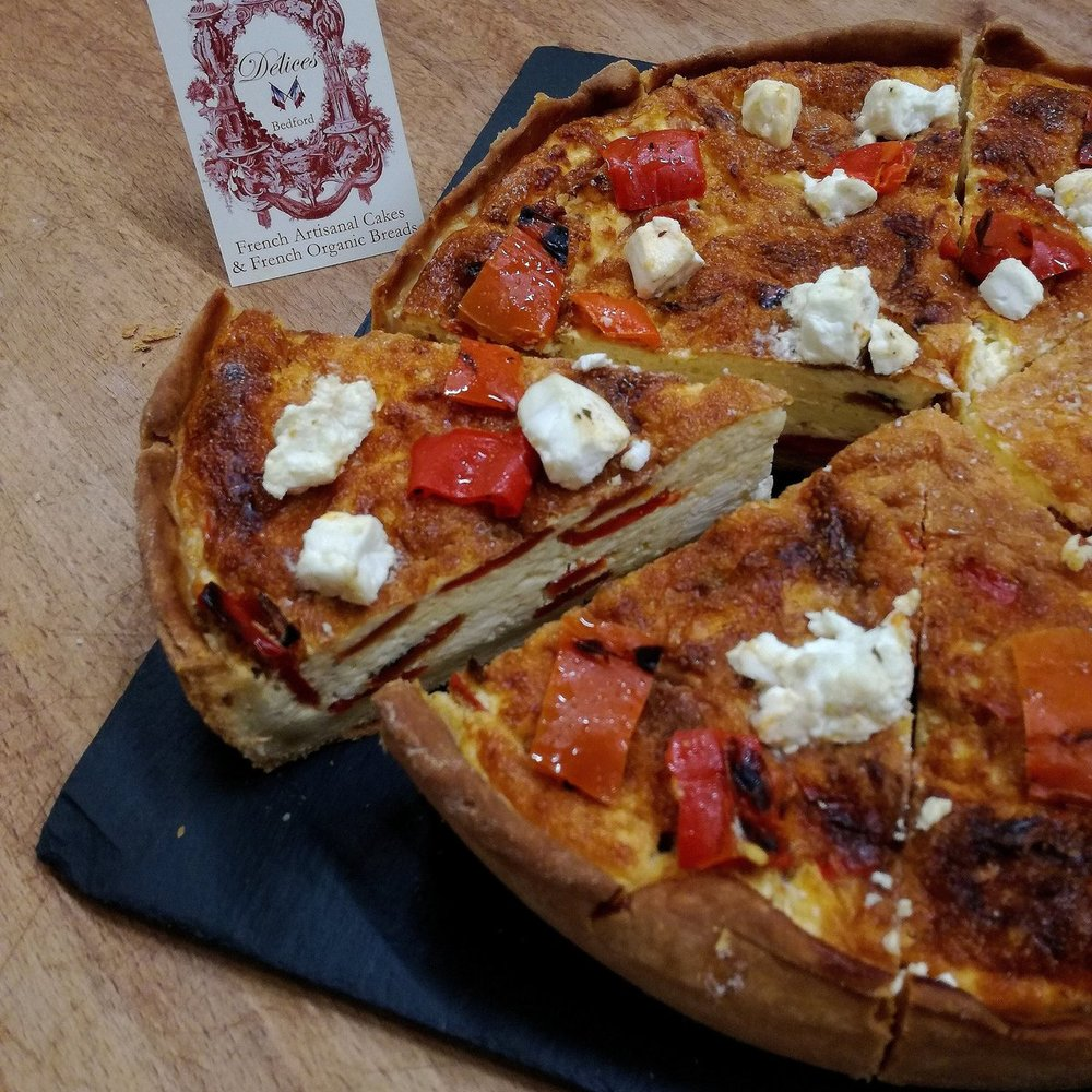 PEPPER & FETA QUICHE