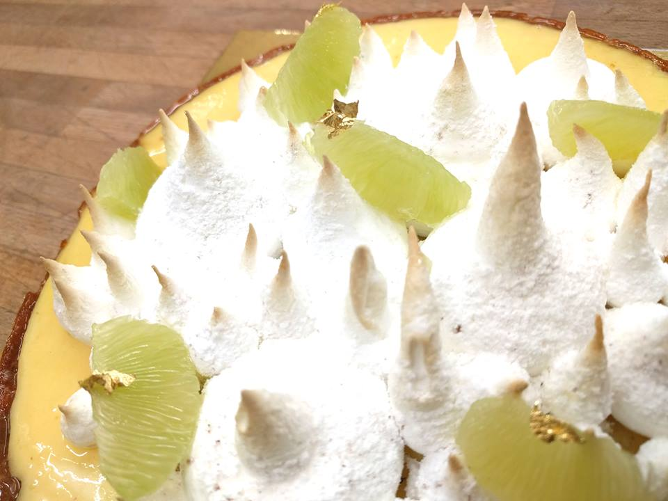 LEMON TART w/ MERINGUE