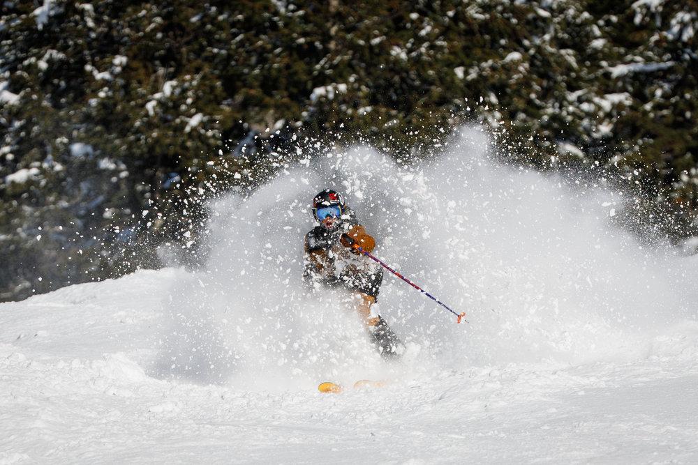 "McQUADE ELLIS  Originates from - Coeur D'Alene, Idaho  Years Skiing - 12  Ski Industry Experience - 3 years Junior Ski Patrol  Ski Setup - Blizzard Rustler 102  Ski Icon -Sage Catabriga-Alosa  Favorite Run at Alyeska -LoLo's (Full Send)  Favorite Backcountry Peak - Fish's Breath  Favorite Aprés Ski Drink - ""HOT"" Peppermint Mocha"