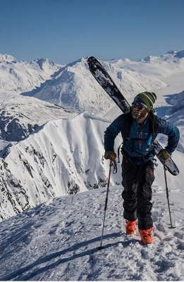 Colin Hewitt  Originates from - Doylestown, PA  Years Skiing - 6  Ski Industry Experience - 6 years as a ski tech  Ski Setup - Shop demos for life  Ski Icon -Corey Anderson  Favorite Run at Alyeska - Max's Trees  Favorite Backcountry Peak -Alpenglow  Favorite Aprés Ski Drink - Jame-o without a lid