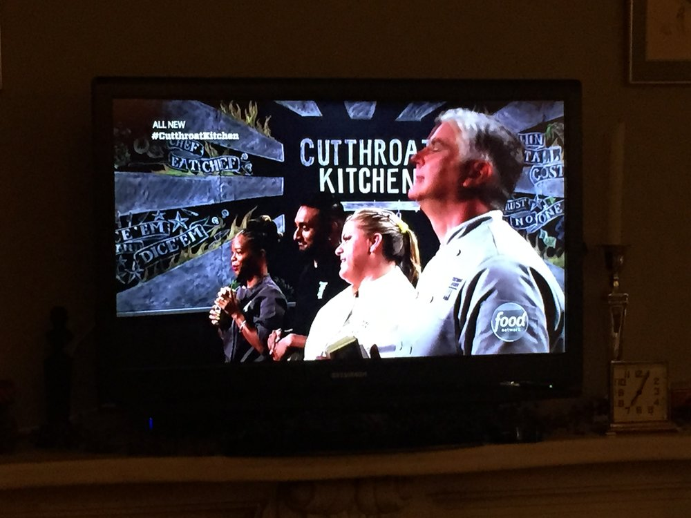 "Dave as contestant on ""Cutthroat Kitchen"""
