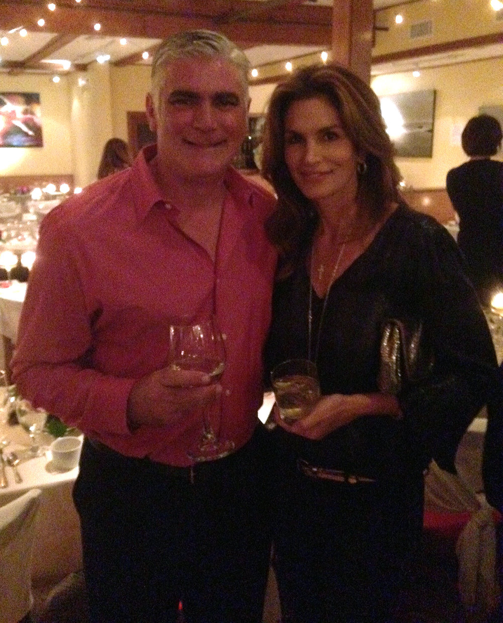 Dave meets Cindy Crawford at Malibu Event