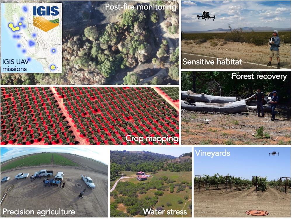 IGIS UAV Missions in California