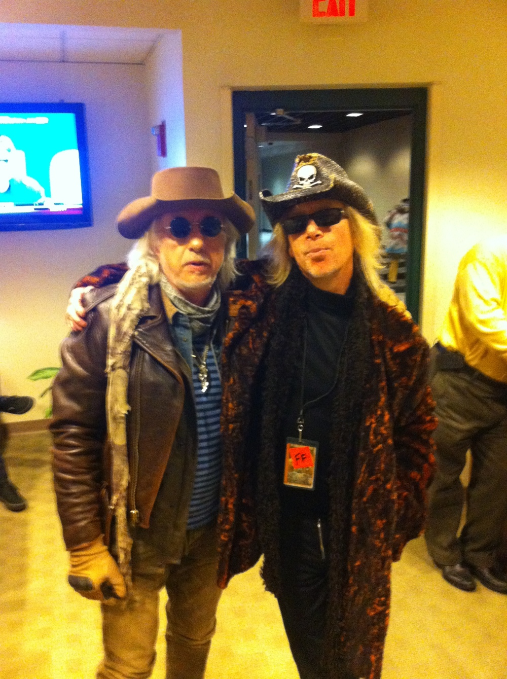"Posing with Brad Whitford of Aerosmith at the ""1325 Commonwealth Ave"" City of Boston dedication to Aerosmith"