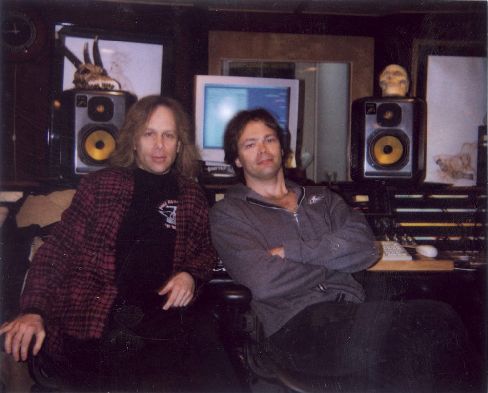 "At Joe Perry's studio ""The Boneyard"" with esteemed Canadian Rich Chycki (Rush, Dream Theater)"
