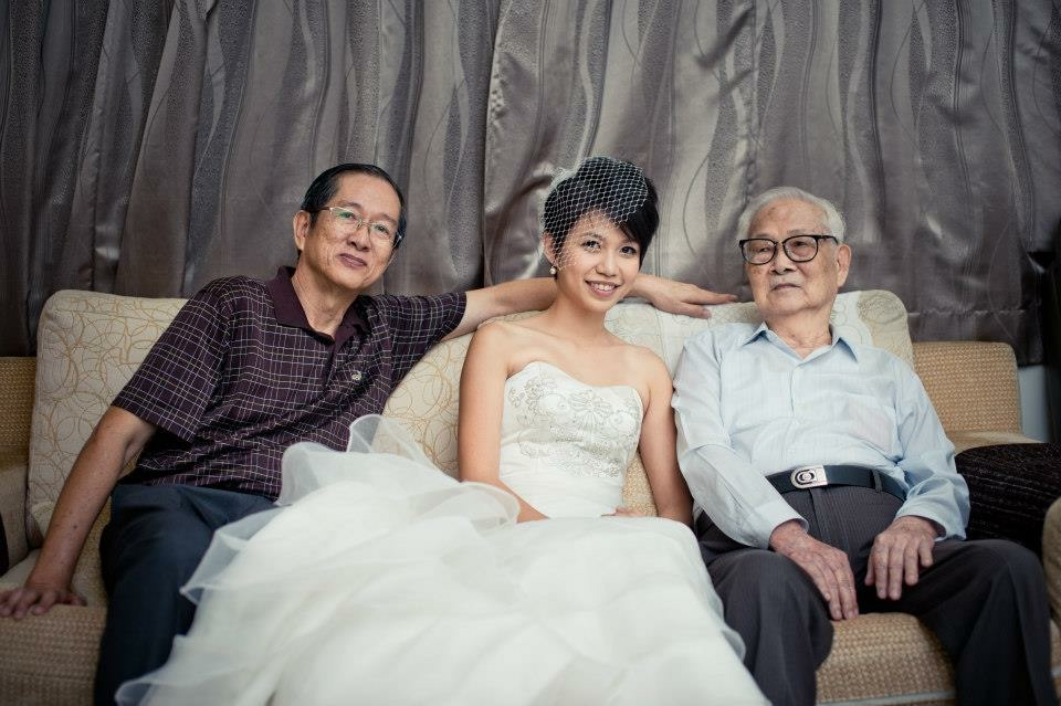 I'm so glad to have my grandpa to witness my wedding, but sadly he couldn't make it to see the birth of Rae. This is the picture i'll treasure forever