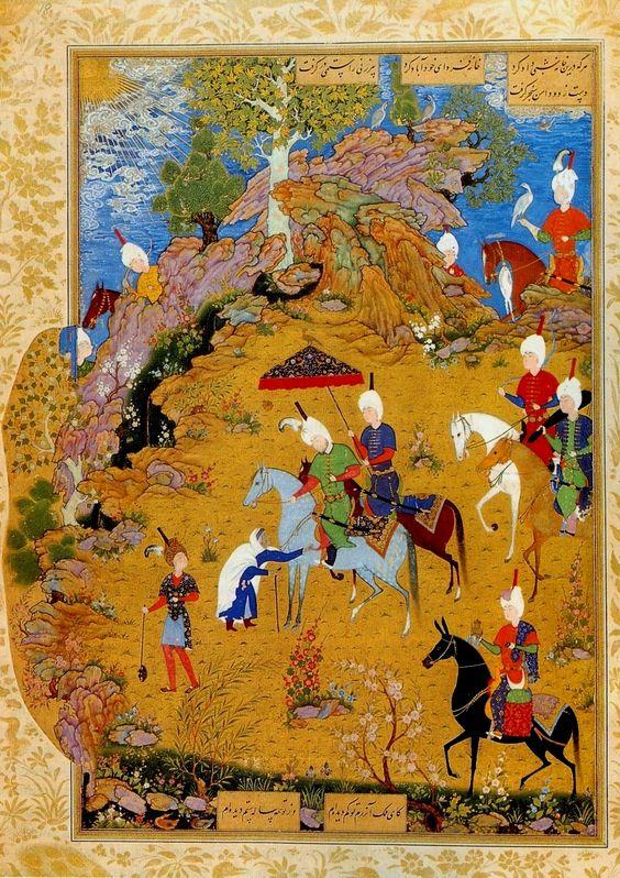 Scene from Jhamsa of Nizami