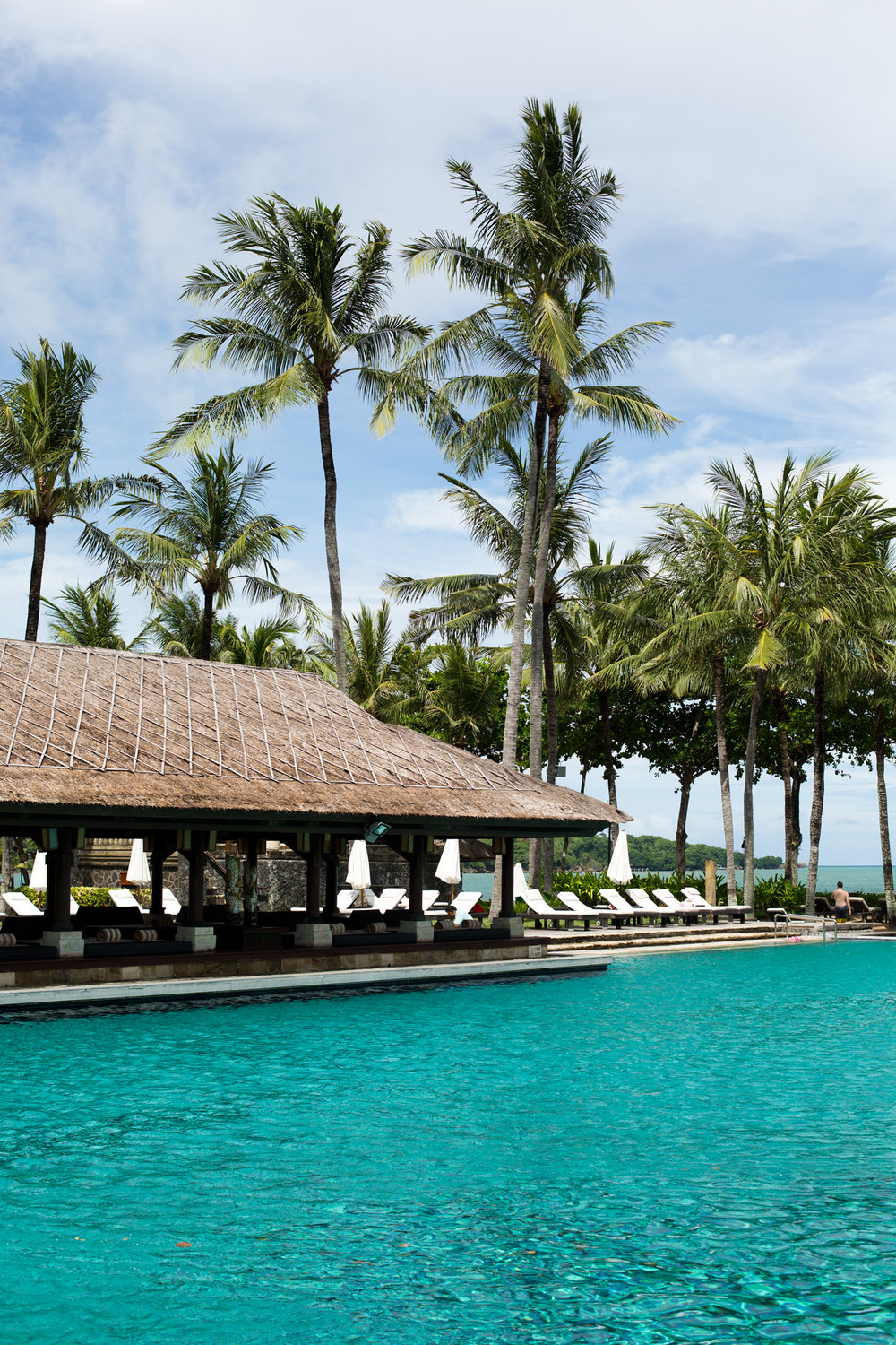 The Intercontinal hotel in Bali was perfection
