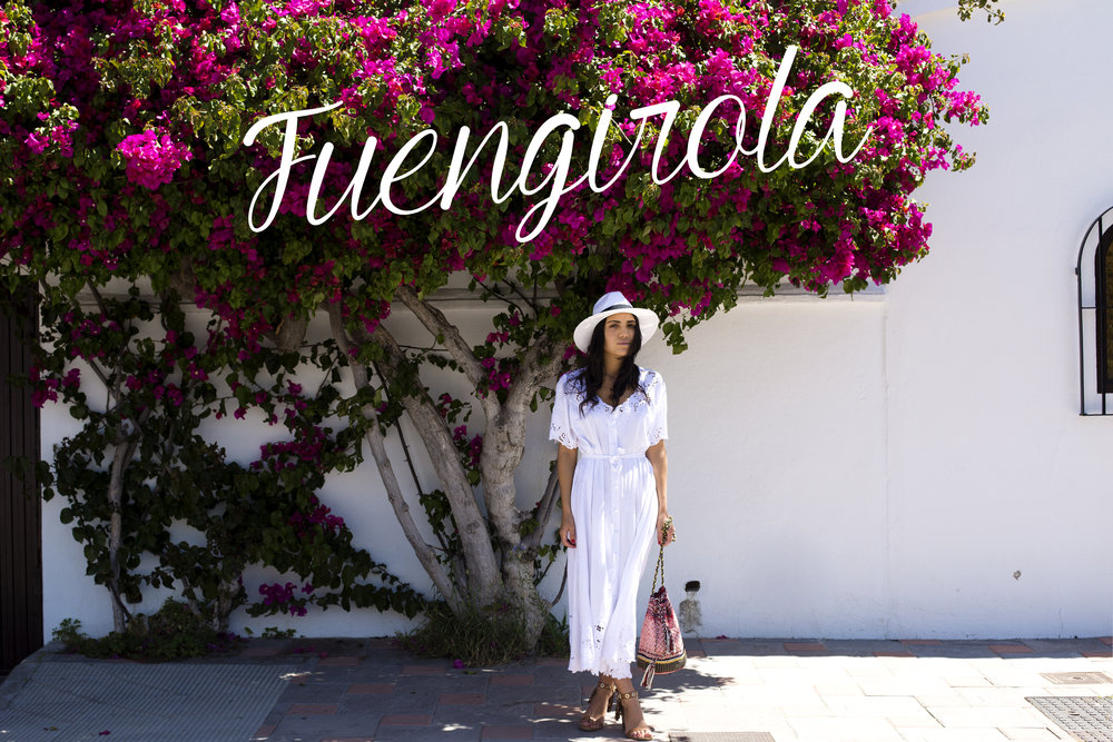 I had the opportunity to fly to 3 different countries in less than 2 weeks. My second stop was in the beautiful city of   Fuengirola   I was lucky enough to live in the   cutest  little house next to thousands of beautiful flowers. I will admit that the first thing I did was to go straight to Oysho to buy their latest collection (I am a bit obsessed with that store). Unfortunately I would love to tell you where you can purchase the white dress I'm wearing but this piece of heaven is from a tiny market in Bali. I've been all about white lately so I will   apologize   for the next posts, you might see me in white the whole summer!