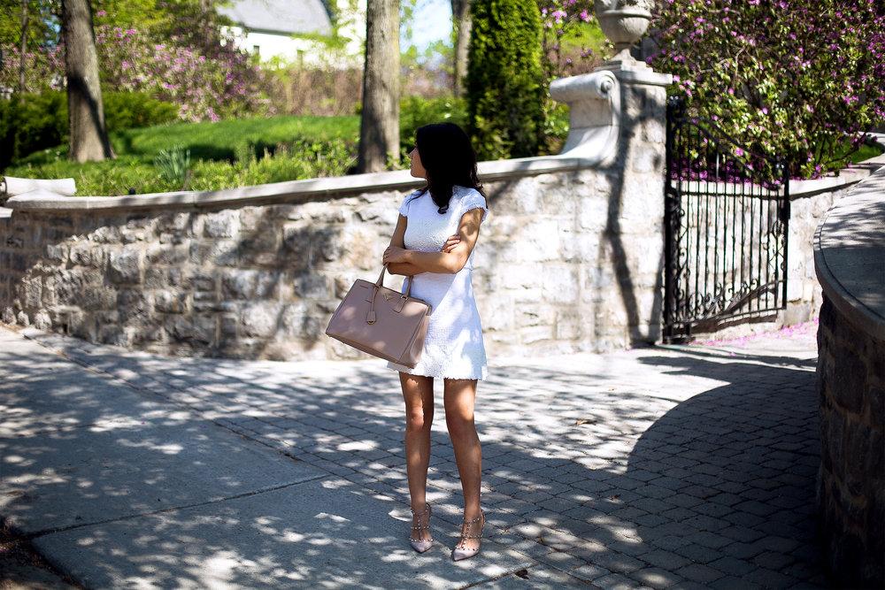 Dress from Zara//Heels from Valentino//Handbag from Prada