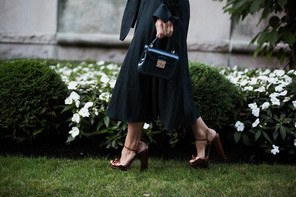 Handbag from Furla//Platforms from Gucci