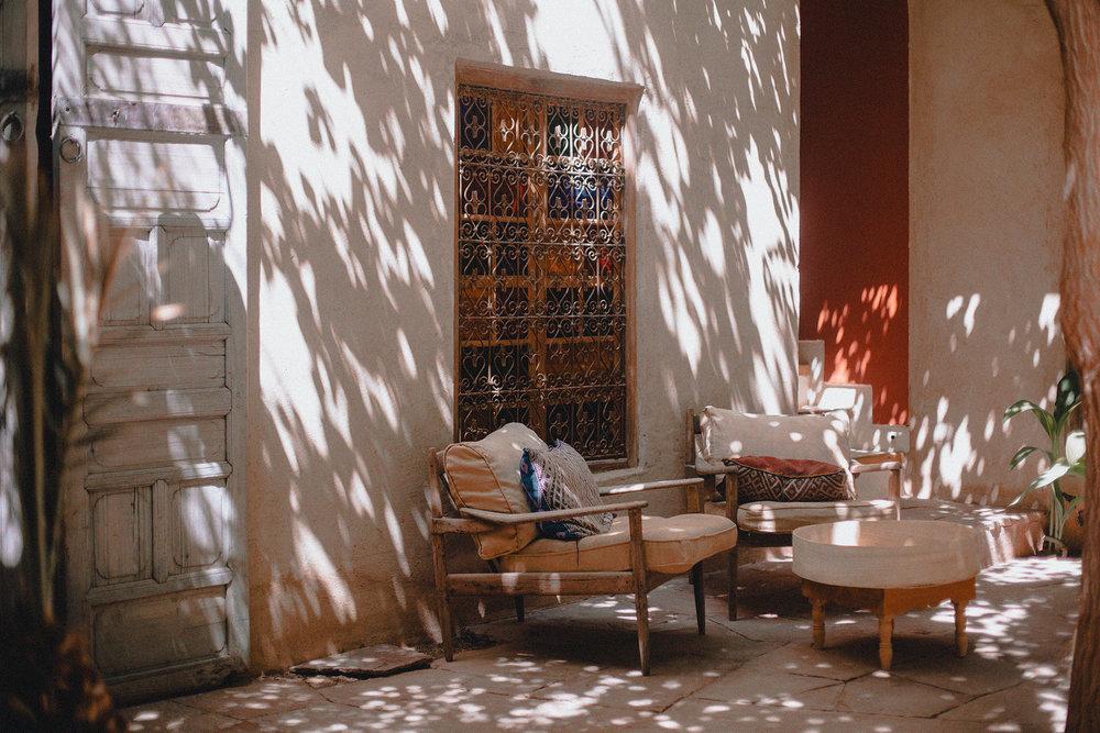 Enjoying this beautiful light at Riad Kbour & Chou