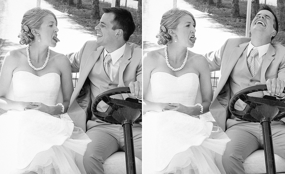 Candid black and white wedding photograph © Humboldt County wedding photographer Kate Donaldson Photography