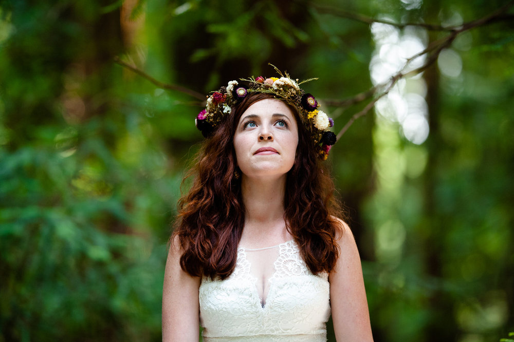 Pamplin Grove Redwood Forest Wedding - Boho Bride