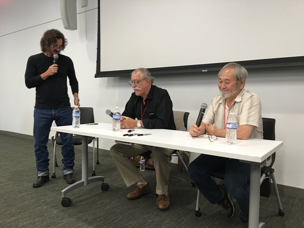 From left to right: Jeff Smith, Sergio Aragones, Stan Sakai.