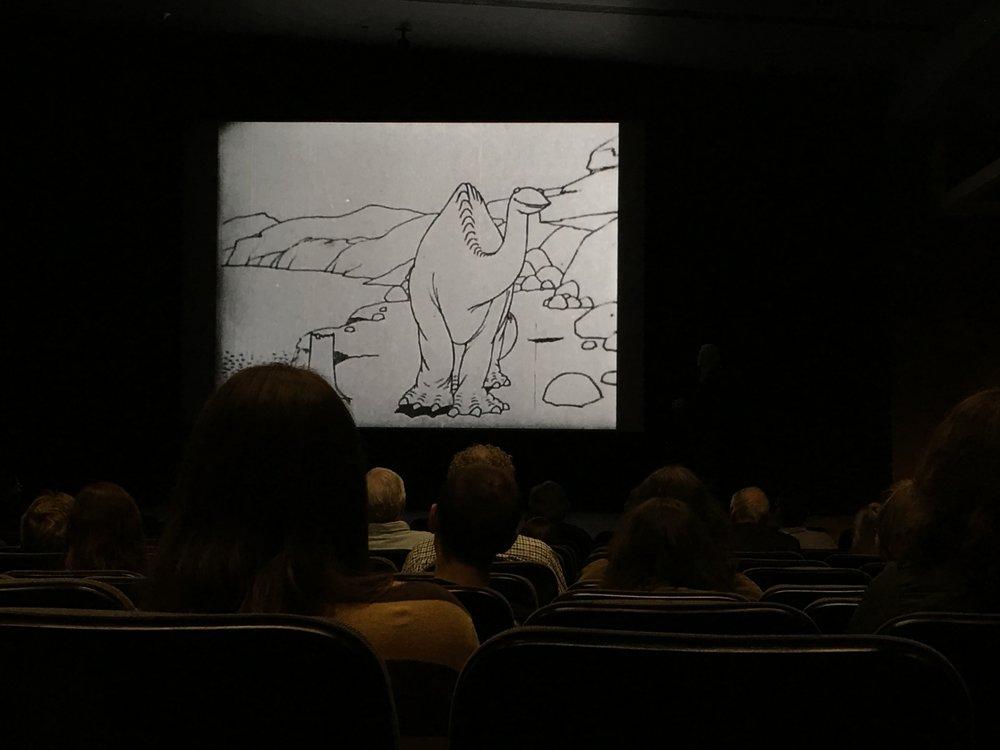 During the Little Nemo symposium we the crowd got to interact with Winsor McCay's 1914 Gertie the Dinosaur cartoon.