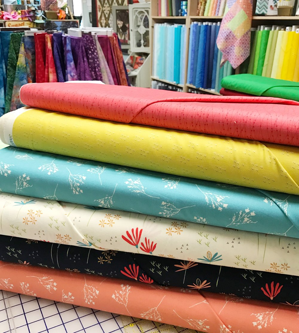 Fun Fabric at Quail's Nest!