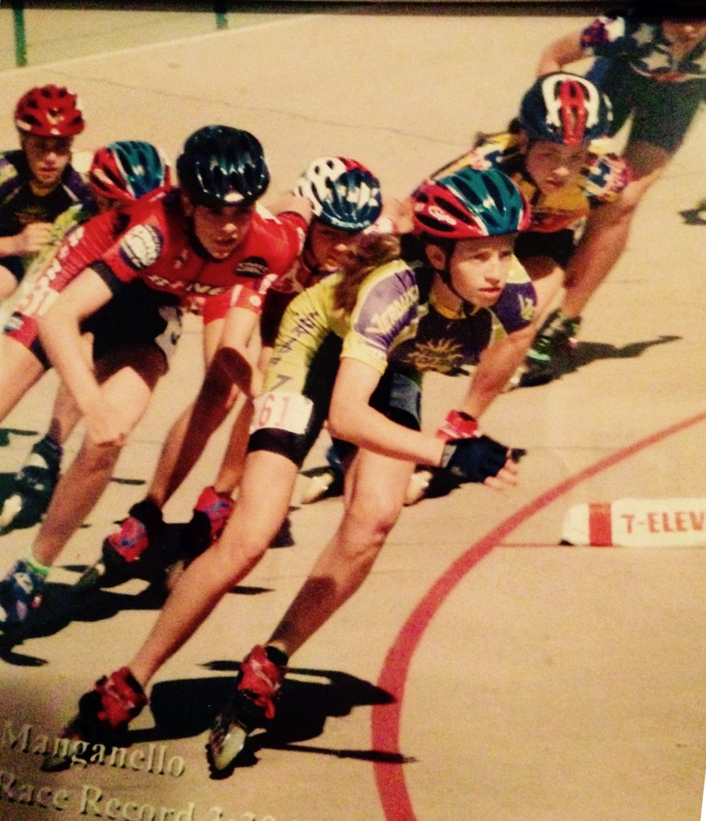 2002 was my last year as an inline speed skater and I                went out with a bang!