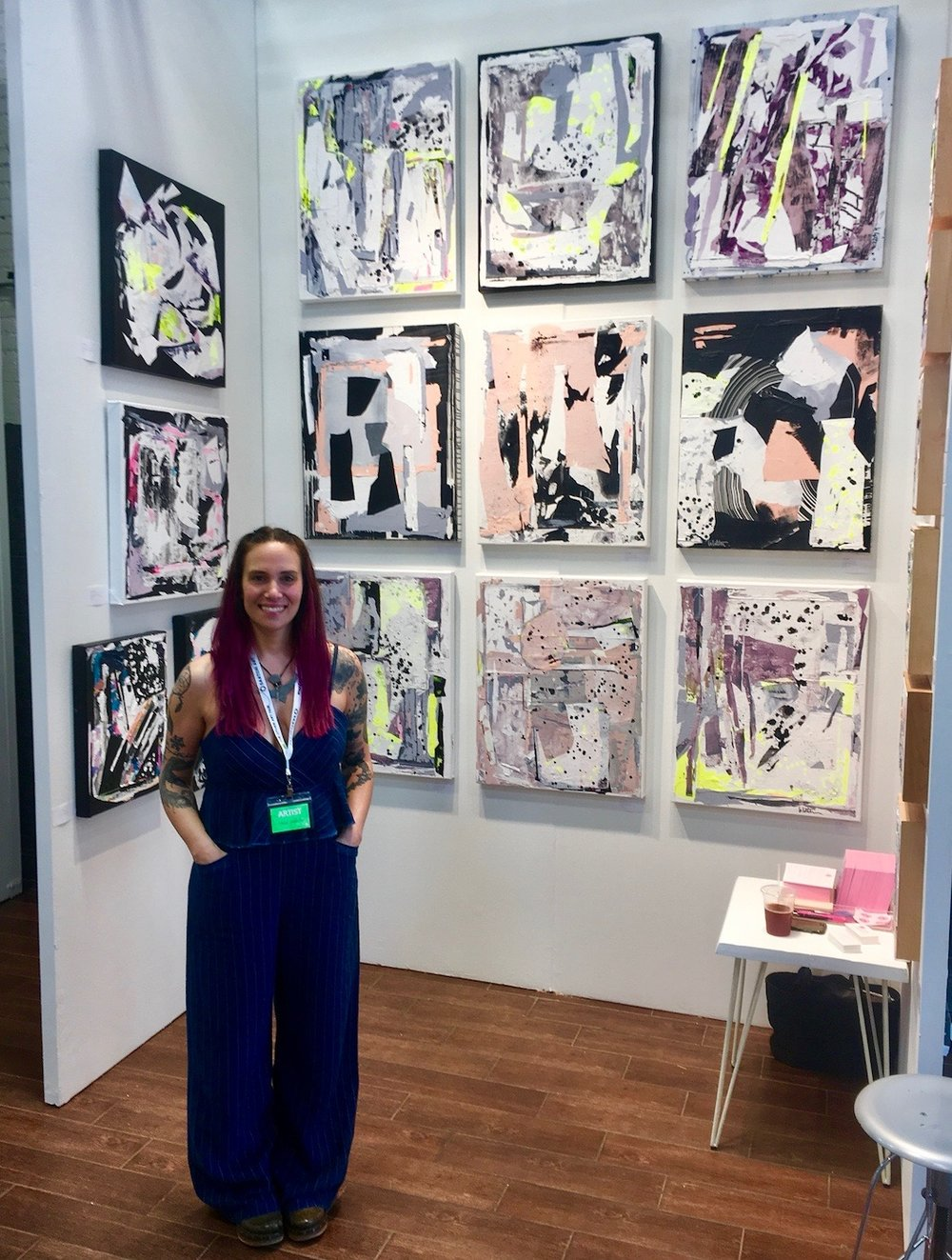 Artist  Linda Colletta  at  The Other Art Fair , Brooklyn - 2018